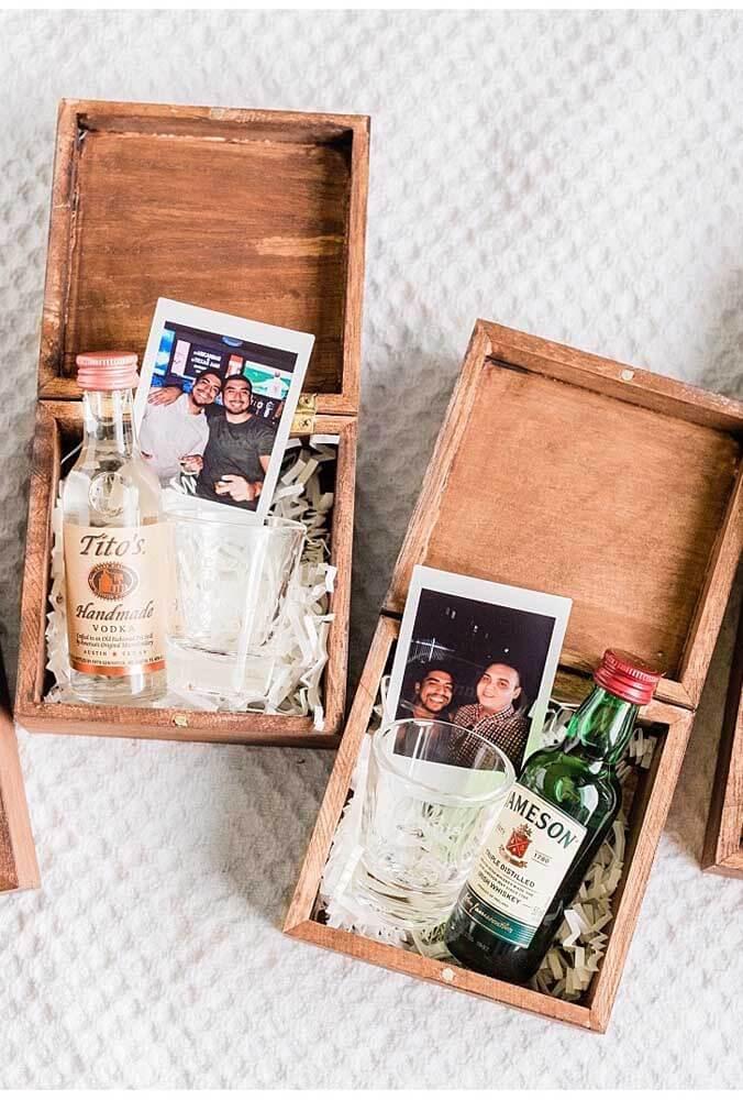 Convite para padrinhos de casamento com fotos